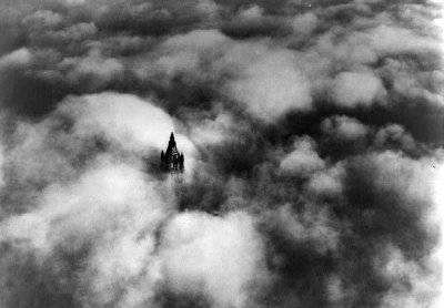 Woolworth Building, New York City - in clouds