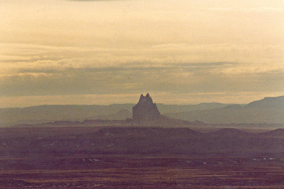 Shiprock - near Mesa Verde National Park