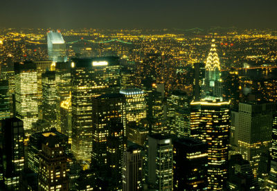 New York City - night time lights