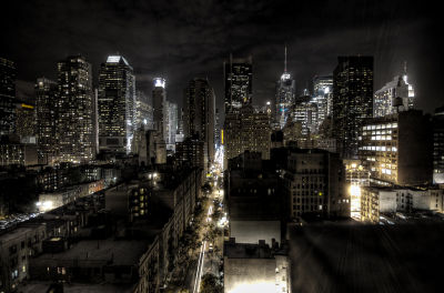 New York City at night - HDR photo