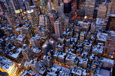 Winter view from Empire State Building, New York