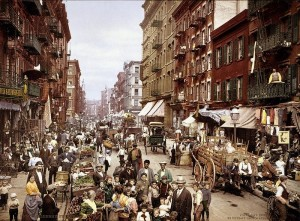 Mulberry Street in NYC around 1900