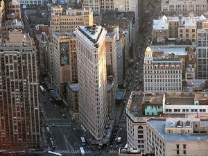 Aerial photo of New York's Flatiron Building