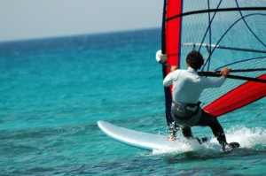 Photo of windsurfing in ocean