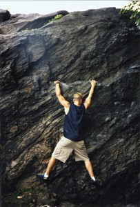 Climbing in Central Park