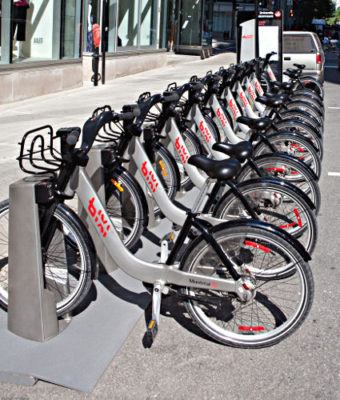 Bixi Bycicle Rental, Montreal, Canada