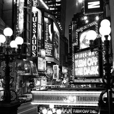 The lights of times square