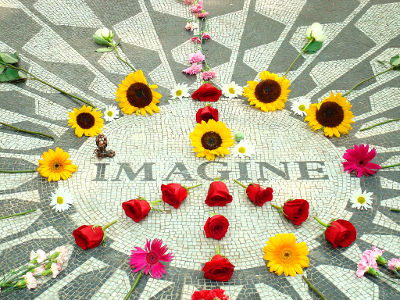 Photo of Strawberry Fields in Central Park, New York City