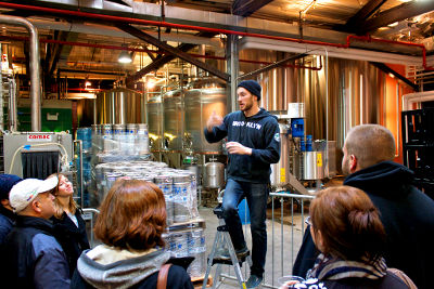 Photo of a tour at Brooklyn Brewery