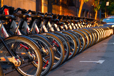 Photo of Montreal's public bicycle system