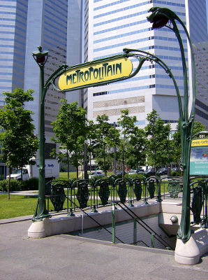 Photo of a metro entrance in Montreal, Canada