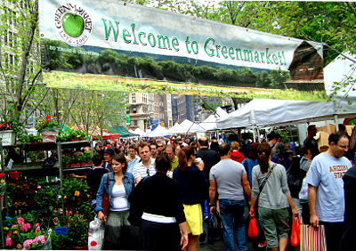 Photo of the Union Square Greenmarket in New York City