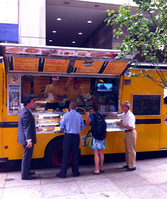 Photo of a Wafels and Dinges food truck in New York City