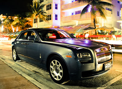 Photo of a Rolls-Royce Ghost in Miami Beach Florida