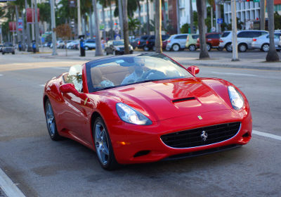 Photo of a Farrari in Miami Beach, Florida