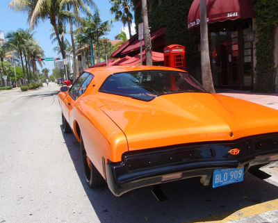 Photo of a classic muscle car in Miami Beach, Florida