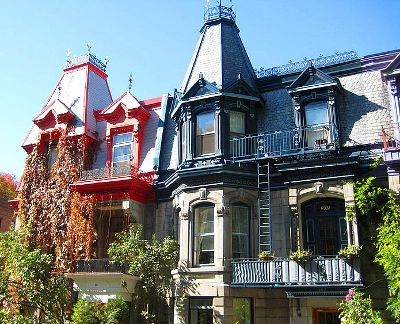 Photo of houses in The Plateau, Montreal
