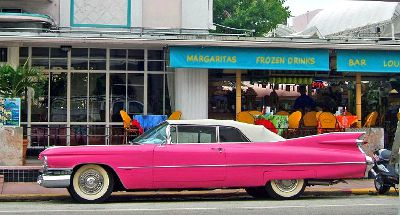 Photo of a classic Cadillac in Miami Beach, Florida