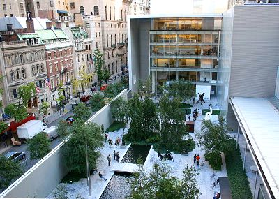 Photo of The Sculpture Graden at MoMA in New York City