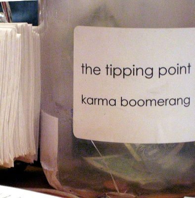 Photo of a tip jar