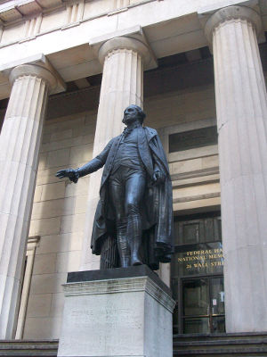 Photo of Federal Hall in New York City