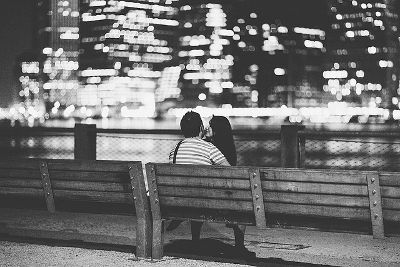 Photo of lovers in New York City