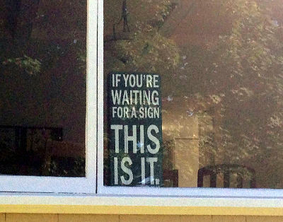 Photo of a funny sign