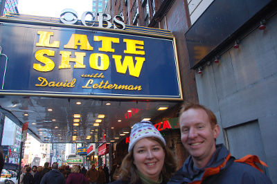 Photo of The Late Show with David Letterman in New York City