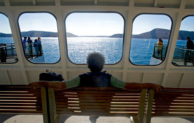 Photo of a man on a ferry