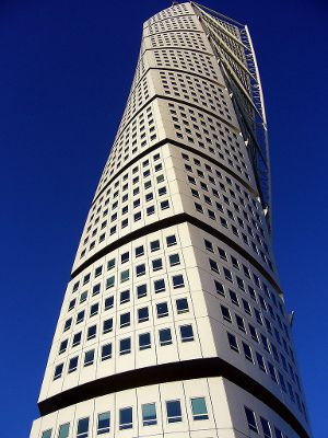 Photo of the Turning Torso building in Malmo, Sweden