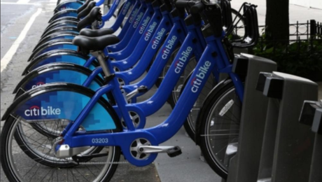 Citi Bikes near Jazz on Columbus Circle